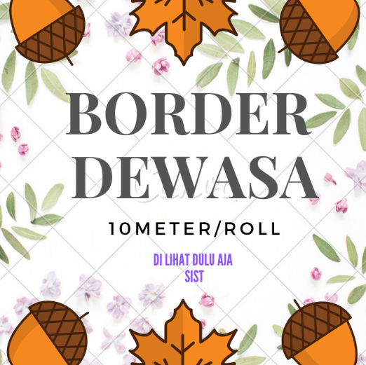 Wallpaper Dinding BORDER DWS 10m/roll <br><br><br>